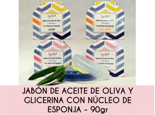 JABÓN DE ACEITE DE OLIVA Y GLICERINA CON ESPONJA le parfum secret